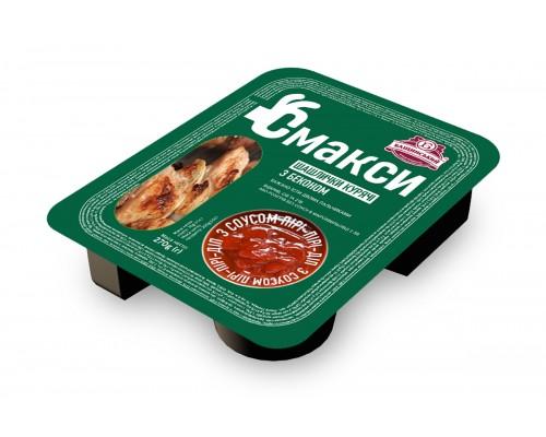 Шашлычки куриные с беконом и соусом пири-пири-дип  (0,270 кг)